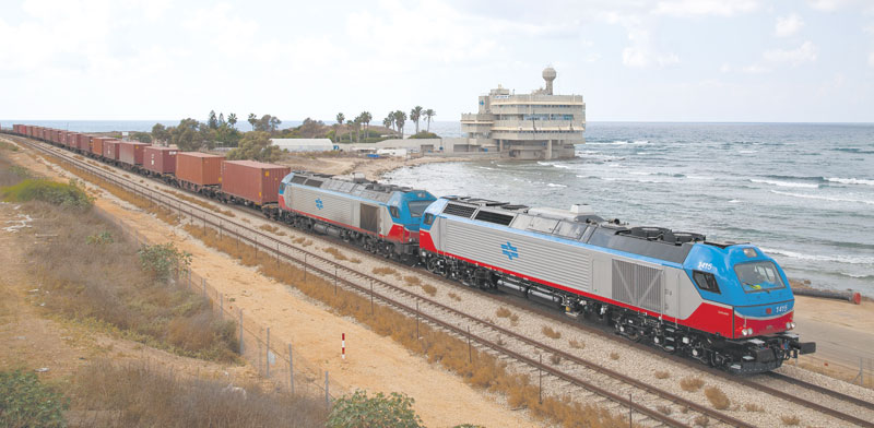 Freight train Photo: Israel Railways