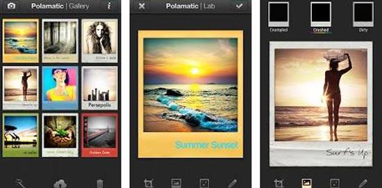 אפליקציית צילום של פולארויד / מתוך: צילום מסך גוגל פליי