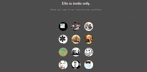 רשת חברתית  ello / צילום מסך