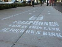 שביל הליכה למדברים בטלפון / צילום: מסך
