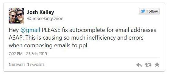 משתמשים מתלוננים על הבאג בג'ימייל / מתוך: צילום מסך טוויטר