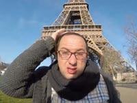 יהודי מסתובב ברחובות פריז / מתוך: צילום מסך יוטיוב