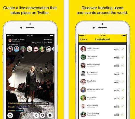 אפליקציית meerkat לאייפון / מתוך: יח