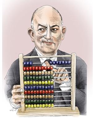 """איור לכתבה בשם """"משחקי המס"""" של שלמה נחמה בגלובסופ""""ש. צייר: גיל ג'יבלי"""