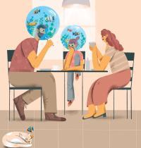 הורים על הספקטרום / איור: חן ליברמן