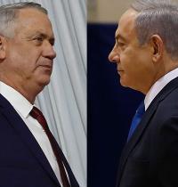 בנימין נתניהו מול בני גנץ / צילום: Ariel Schalit, Associated Press