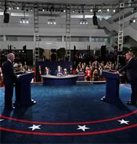 העימות הראשון בין טראמפ וביידן / צילום: אוליבייה דוליירי, AP