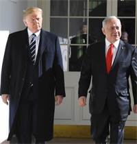 "רה""מ בנימין נתניהו ונשיא ארה""ב דונלד טראמפ / צילום: קובי גדעון, לע""מ"