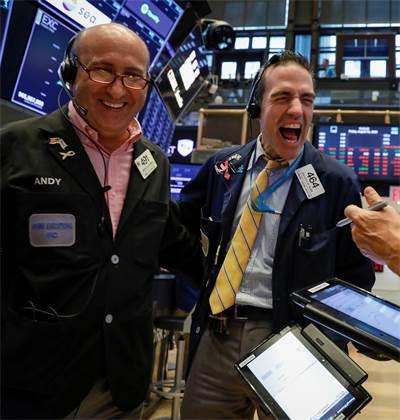 חוגגים עליות ב-NYSE  / צילום: רויטרס