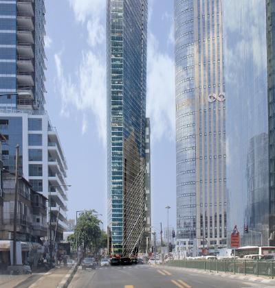 מגדל משרדים חדש בצומת ארלוזורוב וז'בוטינסקי / הדמיה: אימג' viewpoint