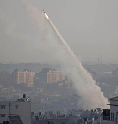 ירי רקטות לעבר מישראל לאחר חיסולו של בהאא אבו על-עטא / צילום: רויטרס