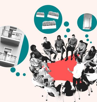 שלבים לבניית אמון בין בעלי הדירות במהלך מינוי נציגות בבניין / עיצוב: טלי בוגדנובסקי, צילום: shutterstock