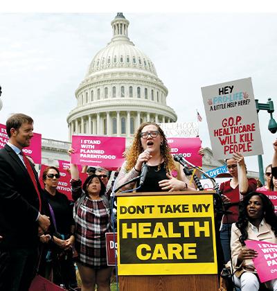 מחאה נגד ביטול אובמקר בוושינגטון / צילום: רויטרס