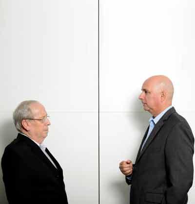 אילן רביב וצבי סטפק/ צילום: איל יצהר