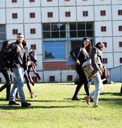סטודנטים באוניברסיטת תל-אביב / צילום: איל יצהר