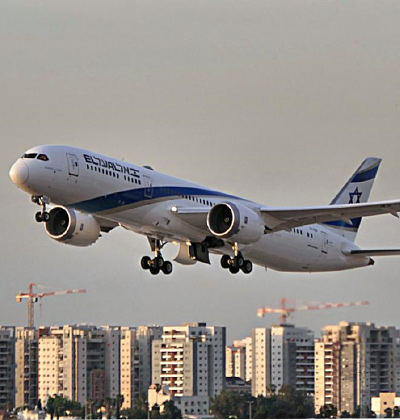 מטוס של אל על ממריא משדה התעופה / צילום: יואב יערי
