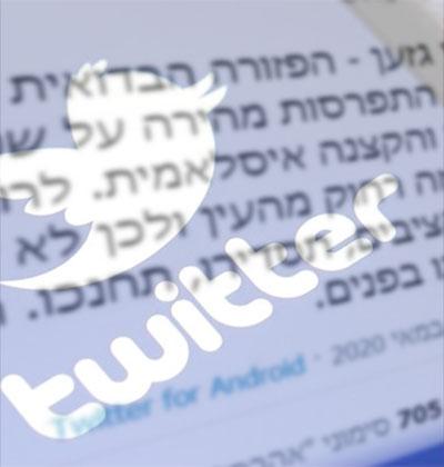 """הציוץ הגזעני של כתב גל""""צ / צילום: צילום מסך"""