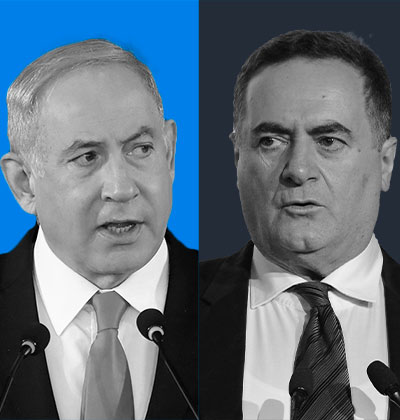 "ישראל כ""ץ ובנימין נתניהו / צילום: איל יצהר, Associated Press"