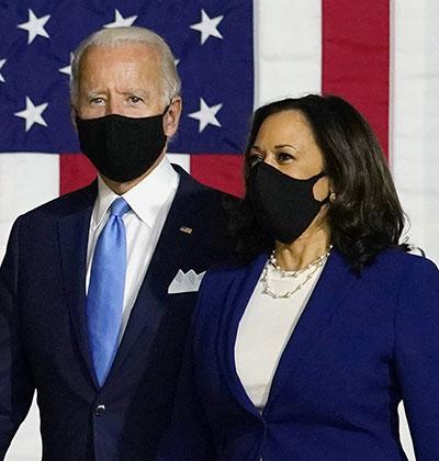 האריס וביידן. סכום שמועמדים לנשיאות מקווים להתקרב אליו איכשהו לאחר רבעון שלם של עבודת שטח / צילום: Carolyn Kaster, Associated Press