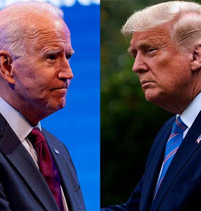 דונלד טראמפ נגד ג'ו ביידן / צילום: Associated Press