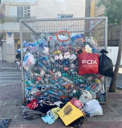 כלוב בקבוקים בתל אביב / צילום: שני אשכנזי, גלובס