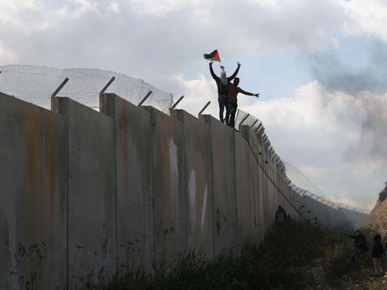 מחאה פלסטינית באיזור עיבלין / צילום: רויטרס - Mohamad Torokman