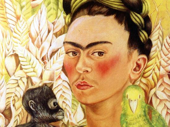 פרידה קאלו (1907-1954),'פורטרט עצמי עם קוף ותוכי' / צילום: רויטרס