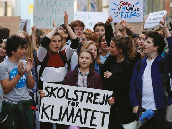 הכישלון הוא של הדור הקודם. בהפגנה בצרפת בעקבות משבר האקלים / צילום: רויטרס