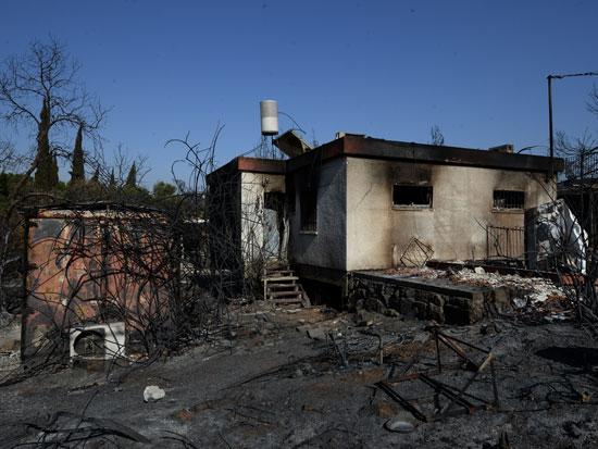 מבוא מודיעים, בימים שאחרי השריפה / צילום: איל יצהר, גלובס