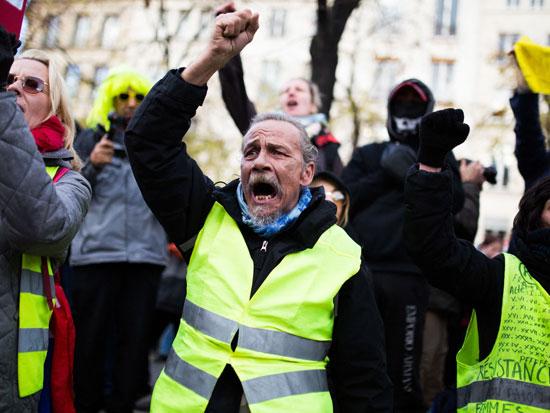 מחאת האפודים הצהובים בצרפת / צילום: רויטרס - Lafargue Raphael-ABACA