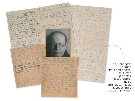 פרנץ קפקא / מתוך קטלוג המכירות הפומביות של Les Collections ARISTOPHIL