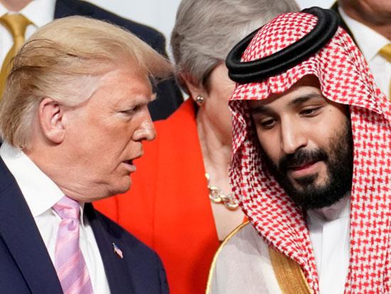 בן סלמאן וטראמפ בפסגת ה־G20 ביפן. ההבנה כי יהפוך למלך חשובה מתמיד להערכת הכיוון שסעודיה הולכת אליו / צילום: רויטרס - Kevin Lamarque