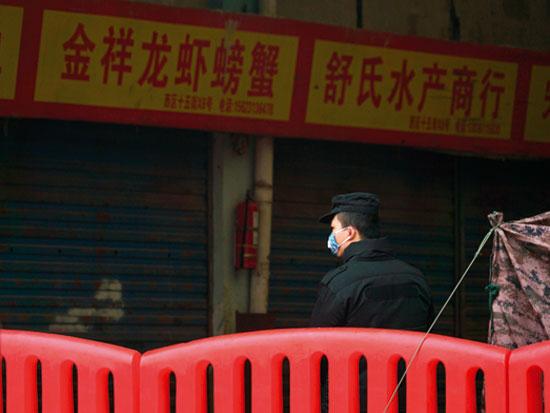 השוק בווהאן שבו כנראה הכול התחיל / צילום: AP - Dake Kang