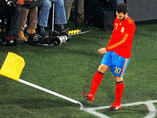 ססק פברגאס ונבחרת ספרד עלו על מסלול הניצחונות / צילום: רויטרס