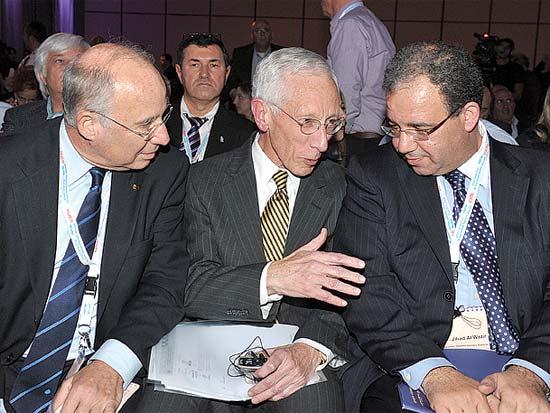 ג'יהאד אלוואזיר, סטנלי פישר, יעקב פרנקל, ועידת ישראל לעסקים דצמבר 2010