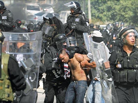 מהומות אום אל פאחם / צלם: סוכנות ג'יני