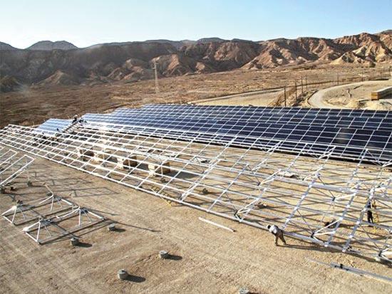 שדה סולארי של ערבה פאואר / צילום: יחצ