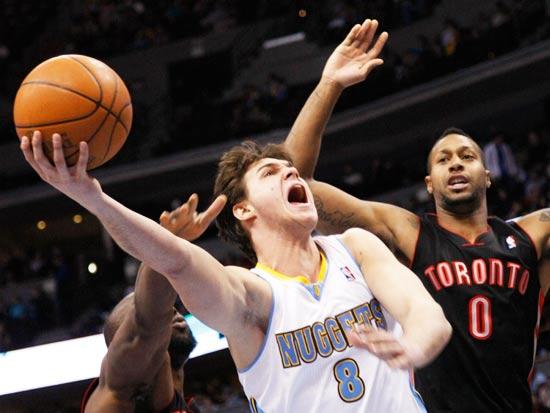 דנבר נאגטס מול טורנטו ראפטורס, NBA / צילום: רויטרס