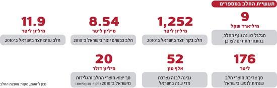 אינפו: משק החלב בישראל