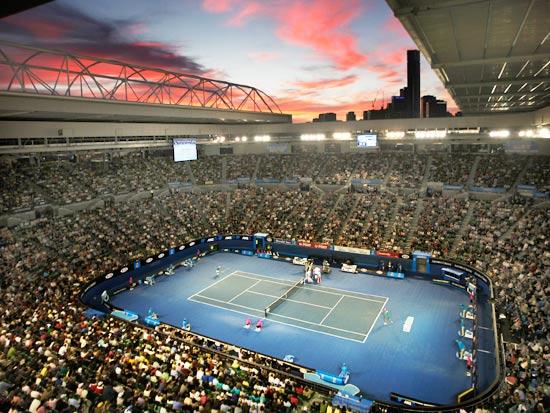 רוד לייבר ארינה, מגרש הטניס המרכזי של אליפות אוסטרליה הפתוחה, טניס / צילום: רויטרס