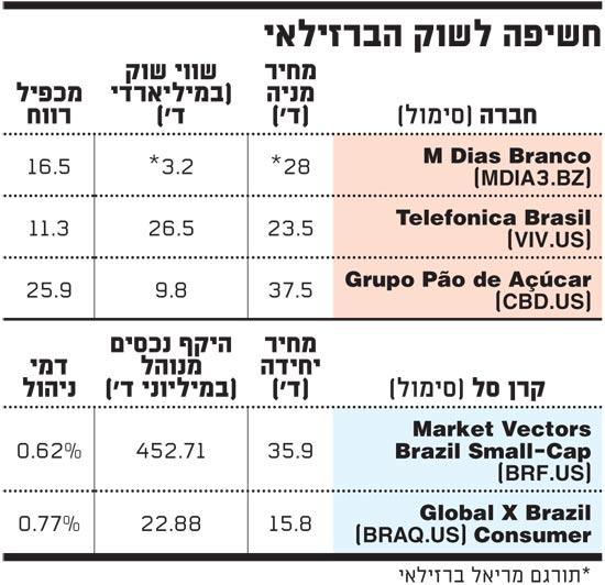 חשיפה לשוק הברזילאי