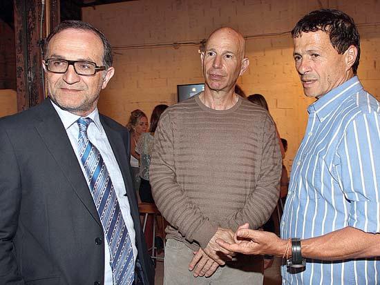אודי אנג'ל, לוני הרציקוביץ, שאול זילברמן, תערוכת ART DE CORE / צילום: קוקו
