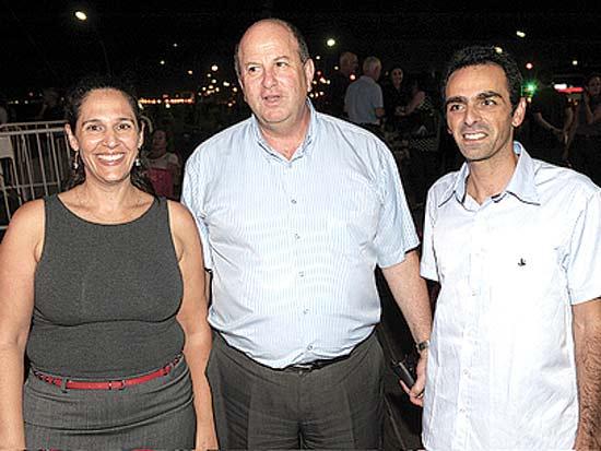 תמיר אבני, דוד מילגרום, איריס ברץ, קונצרט סליחות ושיר בנמל תל אביב / צילום: כפיר סיון
