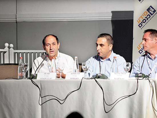 אריאל שרייבר, אודי מראצי, רמי לוי, ועידת GO_MOBILE / צילום: בן קיסלניג