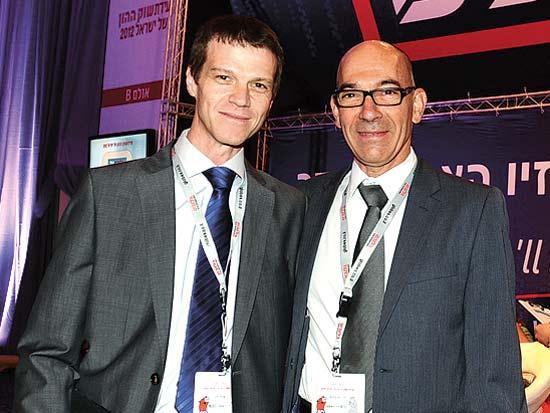 דני מרגלית, שחר זיו, ועידת ישראל לשוק ההון 2012 / צילום: תמר מצפי