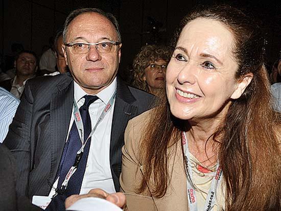 אירית איזקסון, ליאו ליידרמן, ועידת ישראל לשוק ההון 2012 / צילום: תמר מצפי
