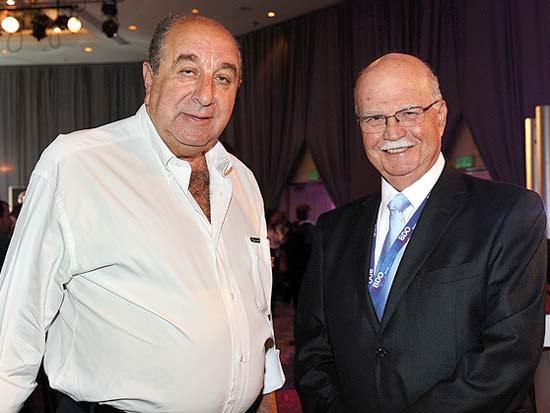 שלמה זיו, שלמה שמלצר, ועידת ישראל לשוק ההון 2012 / צילום: תמר מצפי