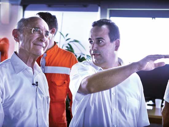 שמואל תורג'מן, עוזי לנדאו, יום הולדת לשמואל תורג'מן / צילום: עמיחי זלוטניק