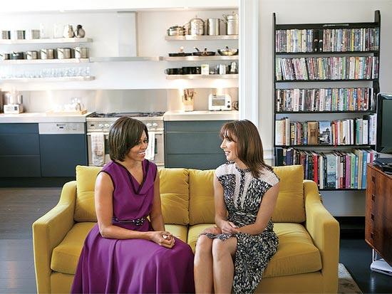 סמנתה קמרון מישל אובמה בדירה בלונדון / צילום: רויטרס