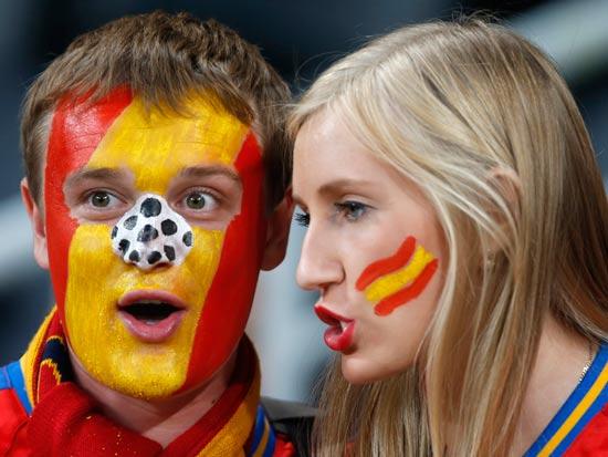 אוהדי נבחרת ספרד / צלם: רויטרס
